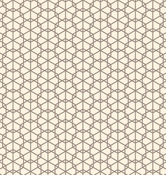 Seamless abstract geometric line hexagon vector image vector image