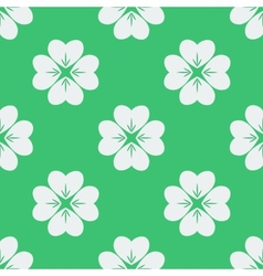 Seamless pattern with clovers vector image vector image