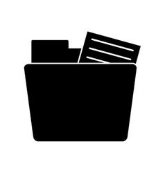 silhouette folder file document information vector image vector image