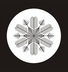 snowflake icon gray silhouette snow flake sign vector image vector image