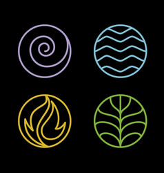 4 element nature vector