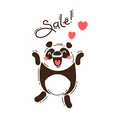 a joyful panda reports a sale vector image
