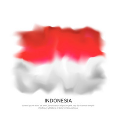 Abstract flag indonesia for national vector