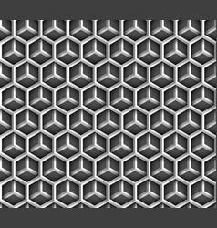 abstract geometric metal hexagon vector image