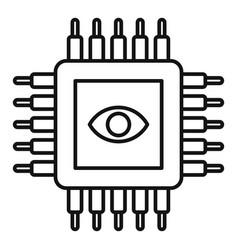 ai processor icon outline style vector image