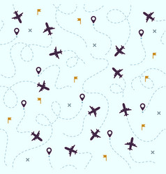 airplane flights pattern plane travel avia vector image
