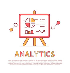 Analytics poster and text vector