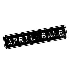 April sale rubber stamp vector