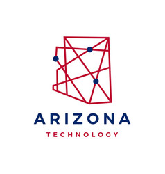 Arizona technology geometric polygonal monoline vector
