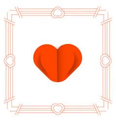 Art deco love paper cut vector
