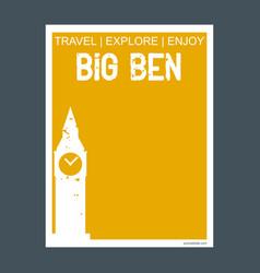 big ben london uk monument landmark brochure flat vector image