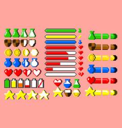 Big set 8-bit elements vector