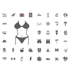 bikini swimming suit icon summer holidays and vector image
