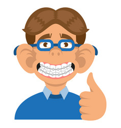 boy show braces vector image