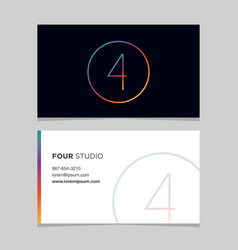 Business-card-number-4 vector