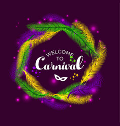 Carnival mardi gras with vector