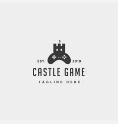 castle game logo design template concept vector image