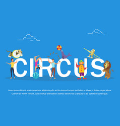 circus performers and vector image