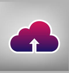 cloud technology sign purple gradient vector image