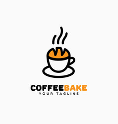 coffee bake logo vector image