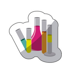 color clinical laboratory icon vector image vector image