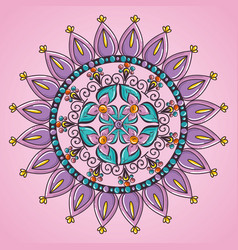 color mandala decorative icon vector image