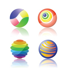 color spheres vector image