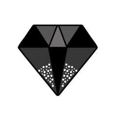 Contour diamond gem and crysral accesory vector