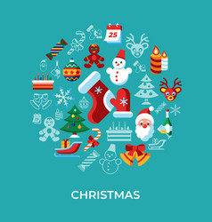digital merry christmas and winter holidays vector image