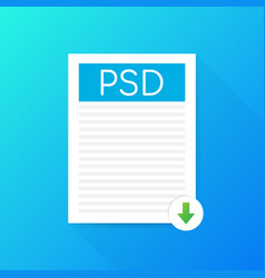 Download psd button downloading document concept vector