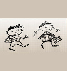 drawn pupils vector image