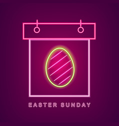 easter egg neon calendar easter calendar vector image