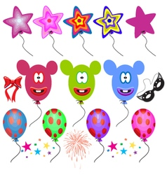 Fantasy balloons on white background vector