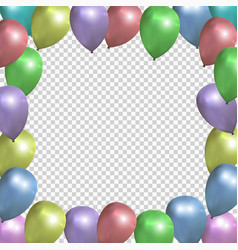 festive frame with colored balloons on vector image