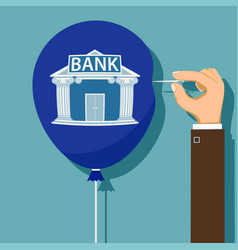 financial bankruptcy of the bank vector image
