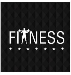 fitness star black polygon background image vector image