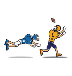 football player cartoon character vector image