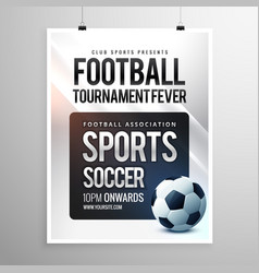 Football tournament flyer invitation template vector