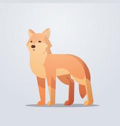 fox icon cute cartoon wild animal symbol vector image