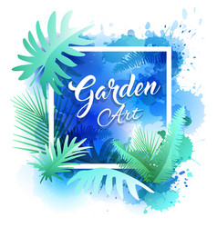 Garden leaf design water color style vector