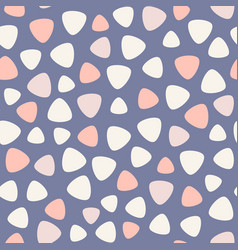 Geometric spots seamless pattern blue pink vector