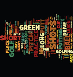 Golf short short game text background word vector