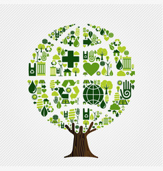 green environment friendly tree concept vector image