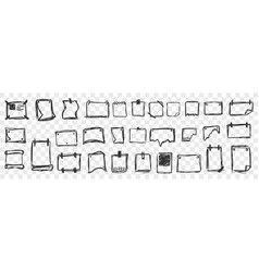 hand drawn notepads doodle set vector image