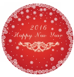 Happy New Year round circle card vector