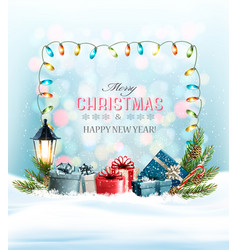 holiday christmas background with a colorful vector image