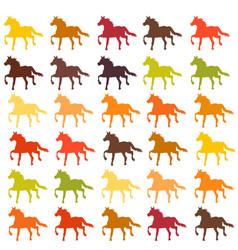 Horse collection - silhouette vector