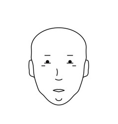 Icon bald head with face vector