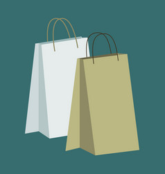 Icon in flat design fashion paper bags vector
