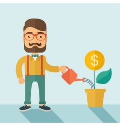 Investor businessman vector